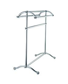 Pedestal Towel Rack in Polished Chrome