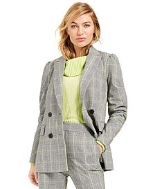 Becca Tilley x Plaid Double-Breasted Blazer, Created For Macy's