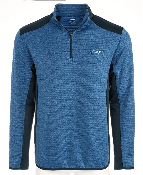 Greg Norman Men's Ottoman Quarter-Zip Shirt, Created for Macy's