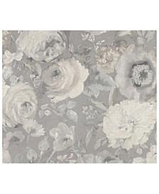 """20"""" x 369"""" Miranda Painted Florals Wallpaper"""