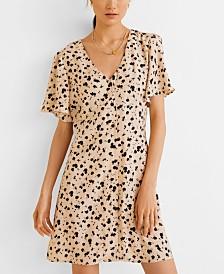 Mango Printed Flared Dress