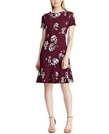 Petite Floral A-Line Jersey Dress