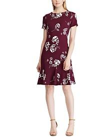 Lauren Ralph Lauren Petite Floral A-Line Jersey Dress
