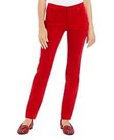 Lexington Velveteen Tummy-Control Straight Leg Jeans, Created For Macy's