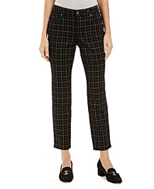 McKenna Plaid Bristol Skinny Ankle Jeans, Created For Macy's
