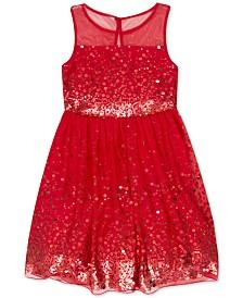 Speechless Big Girls Illusion Sequin Dress