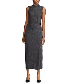 Lauren Ralph Lauren Kip Tweed Mockneck Dress