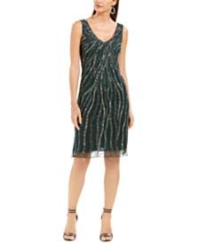 J Kara Allover Sequin Sheath Dress