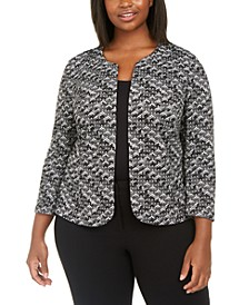 Plus Size Textured Jacket