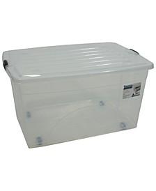 22 Gallon Rolling Bin Storage Organizer