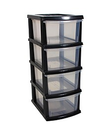 A3 S Series 4 Clear Drawer Storage Organizer KD