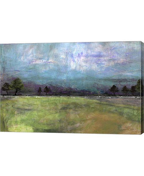 "Metaverse Abstract Aqua Sky Landscape by Jean Plout Canvas Art, 30"" x 20"""