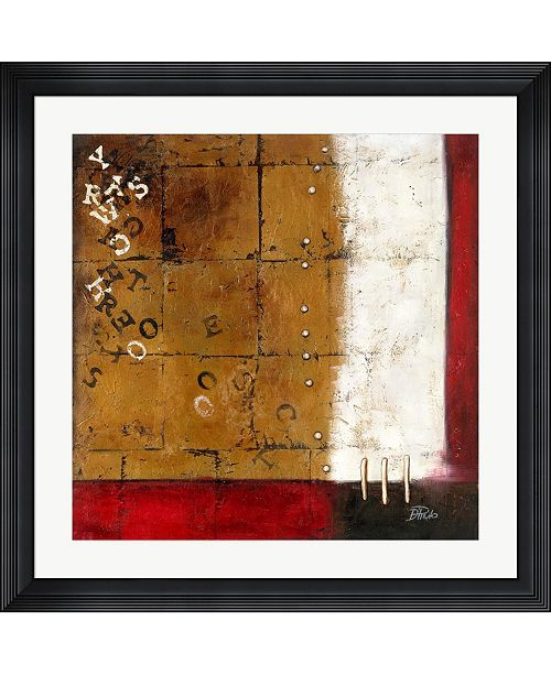 """Metaverse Red Contemporary III by Patricia Pinto Framed Art, 32"""" x 32"""""""