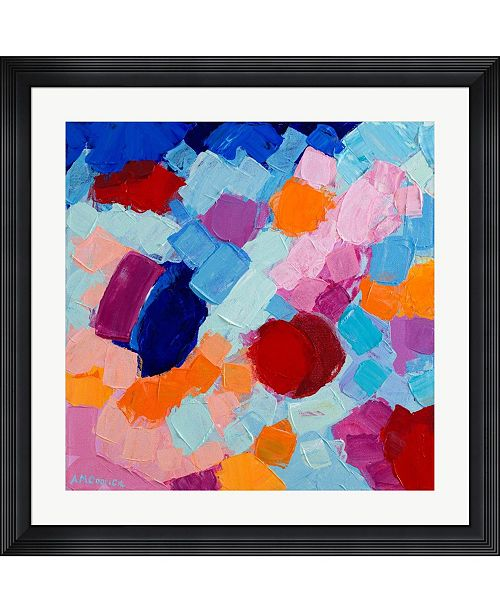 "Metaverse Flower Amoebic Party II by Ann Marie Coolick Framed Art, 32"" x 32"""