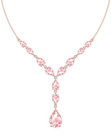 "Rose Gold-Tone Vintage Rose Crystal Necklace, 16-1/2"" + 2"" extender"