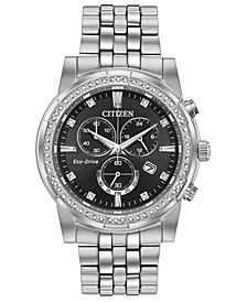Eco-Drive Men's Chronograph Corso Stainless Steel Bracelet Watch 42mm