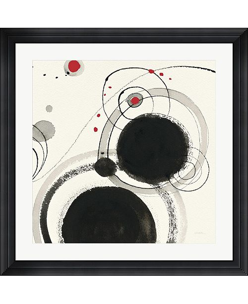 """Metaverse Planetary III with Red by Shirley Novak Framed Art, 32"""" x 32"""""""