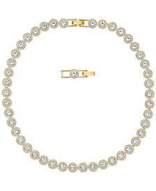 "Gold-Tone Crystal Collar Necklace, 14-7/8"" + 1"" extender"