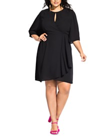 City Chic Trendy Plus Size Jolie Wrap Dress
