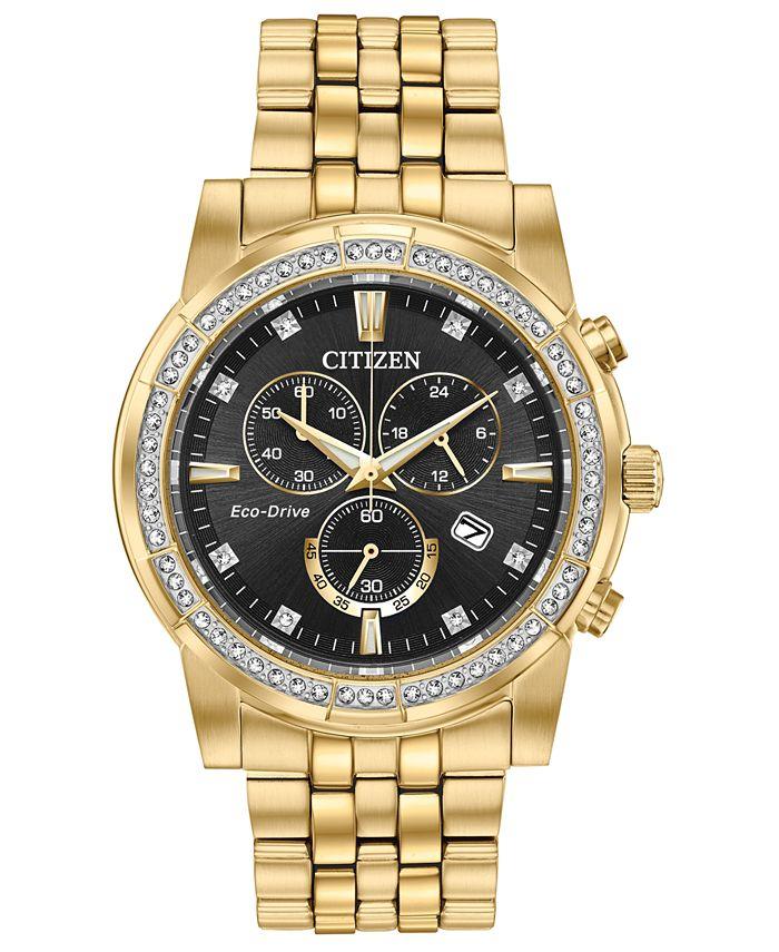 Citizen - Men's Chronograph Corso Gold-Tone Stainless Steel Bracelet Watch 42mm