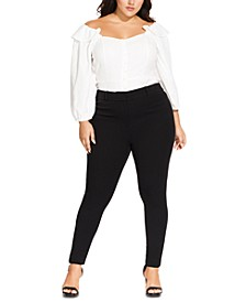 Trendy Plus Size Asha Slim-Fit Pants