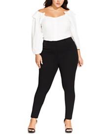 City Chic Trendy Plus Size Asha Slim-Fit Pants