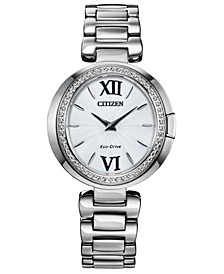 Eco-Drive Women's Capella Stainless Steel Bracelet Watch 34mm