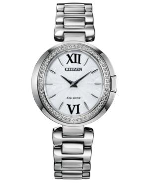 Eco-Drive Women's Capella Stainless Steel Bracelet Watch 34mm