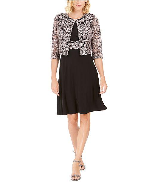 Jessica Howard Petite Dress & Lace Jacket