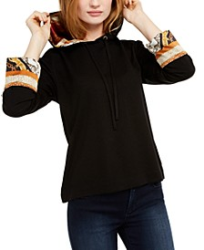 INC Printed-Cuff Hoodie, Created For Macy's
