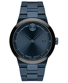 Men's Fusion Swiss Bold Blue Ion-Plated Stainless Steel Bracelet Watch 34mm