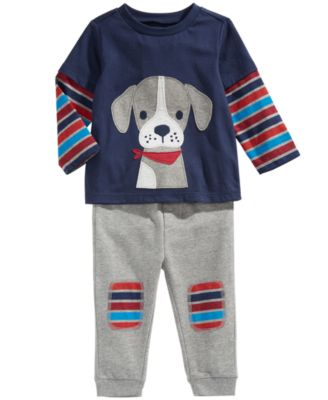 Toddler Boys Striped Patch Jogger Pants, Created For Macy's