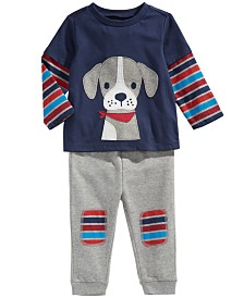 First Impressions Toddler Boys Puppy T-Shirt & Jogger Pants, Created For Macy's