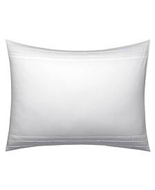 Linear Tucks White Standard Sham