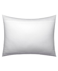 Vera Wang Linear Tucks White Standard Sham