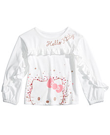 Hello Kitty Little Girls Ruffle-Sleeve Top