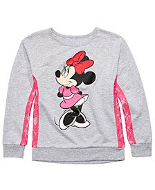 Big Girls Minnie Mouse Lace-Trim Top