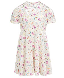 Peppa Pig Little Girls Stars & Rainbows Dress