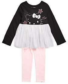 Hello Kitty Toddler Girls 2-Pc. Colorblocked Mesh Tutu Tunic & Leggings Set