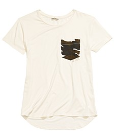 Big Girls Camo-Pocket T-Shirt