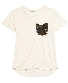 Big Girls Camo-Pocket T-Shirt