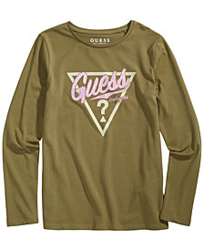 GUESS Big Girls Glitter Logo T-Shirt