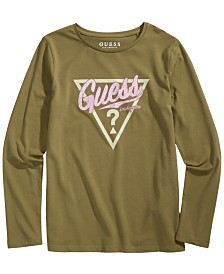 GUESS Big Girls Glitter Logo T-Shirt