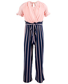 Monteau Big Girls Layered-Look Jumpsuit
