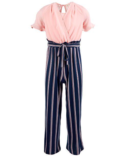 Monteau Big Girls Layered-Look Jumpsuit