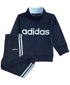 adidas Toddler Boys 2-Pc. Tricot Track Jacket & Jogger Pants Set