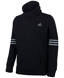 adidas Big Girls Funnel-Neck French Terry Sweatshirt