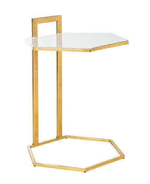Furniture Mirasol Hexagon Side Table, Quick Ship