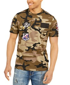 Sean John Men's Camo Patch T-Shirt