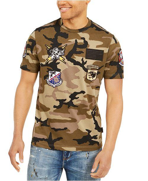 Sean John Men's Camo Patch T-Shirt